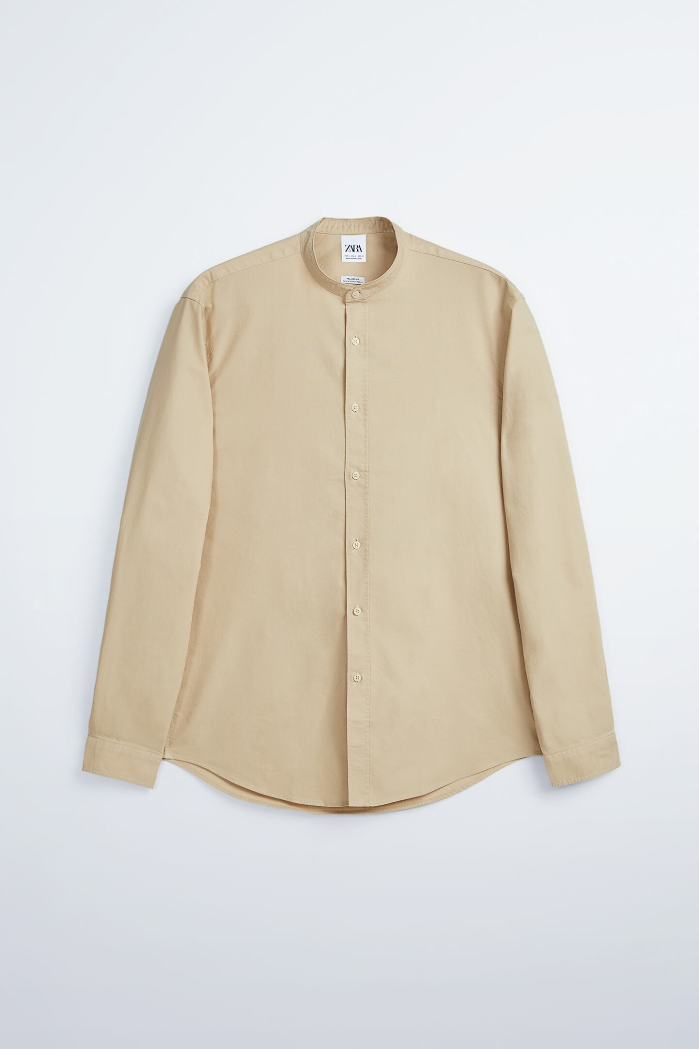 Zara Mandarin Collar Oxford Shirt
