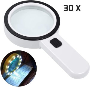 AIXPI Magnifying Glass, best LED illuminated magnifying glass
