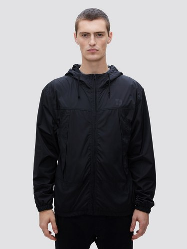 Alpha Industries black utility windbreaker
