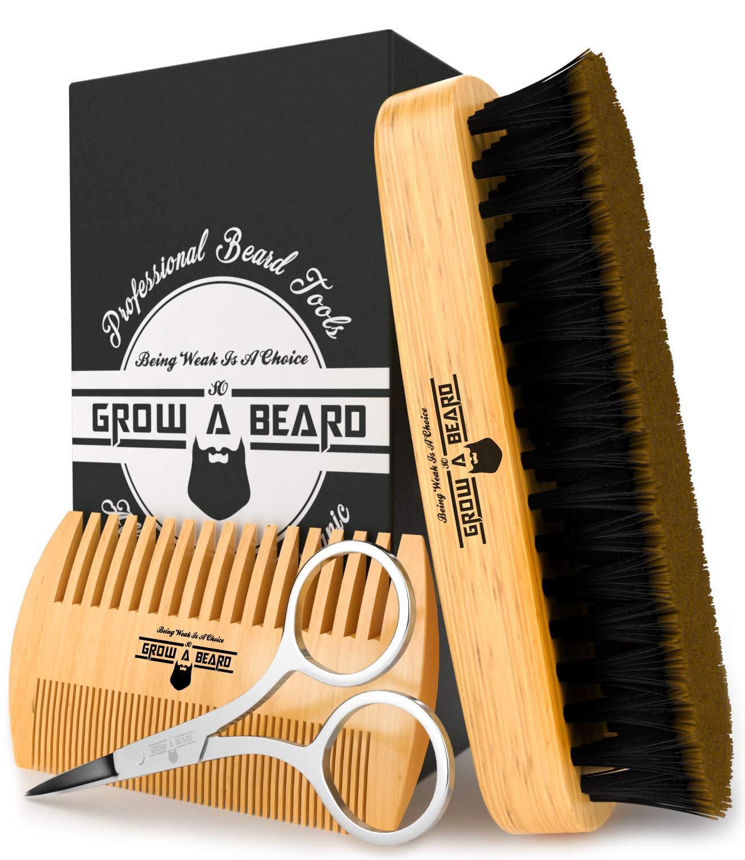 Grow Alpha Beard beard brush, comb, scissors grooming kit for men