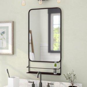 bathroom mirror shelf, mirror shelf