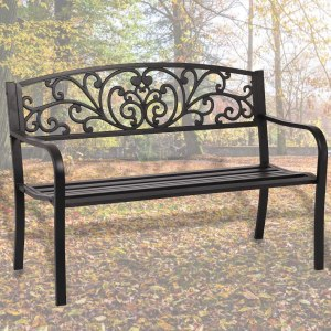 steel frame outdoor bench, best outdoor bench