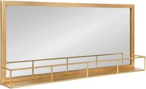 gold mirror shelf