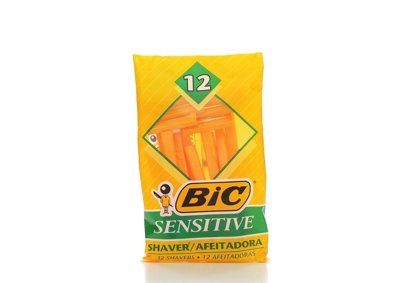 bic sensitive single blade shaver 36 count