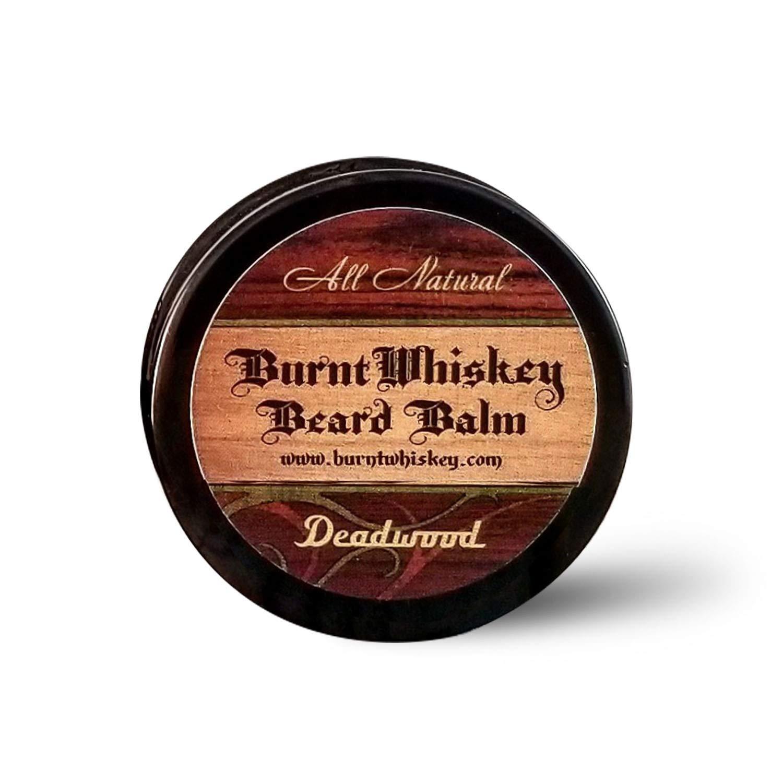 Burnt whiskey all natural beard balm in Deadwood scent, , one of the best beard balms