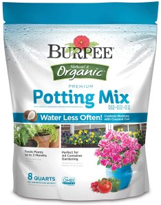 Burpee organic plant mix, how to take care of plants