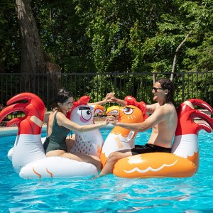 chicken fight inflatable game set, best pool floats