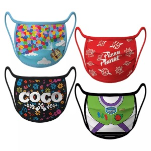 Disney pixar cloth face mask 4 pack, cloth face mask