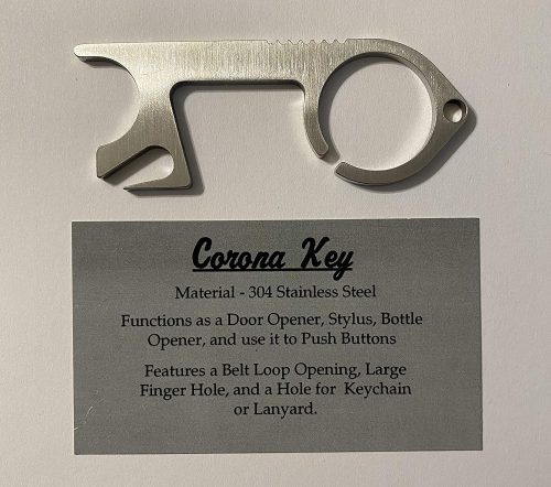 Corona Key Stainless Steel Bottle Opener
