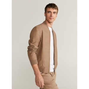 Mango Linen Cotton Bomber Jacket