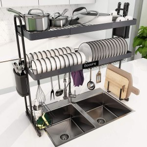 over the sink dish drying rack boosiny