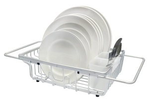 over the sink dish drying rack real home