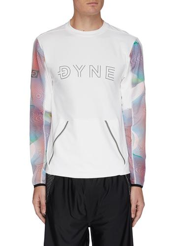 Dyne Renzo graphic white sweatshirt with multicolor sleeves