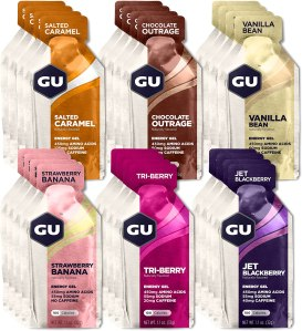 GU Nutrient Gel, what to eat before a workout