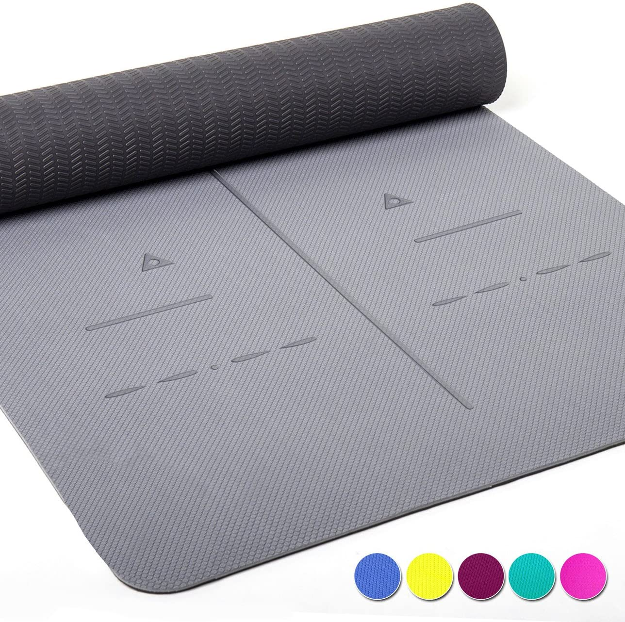 healthyoga eco friendly non slip yoga mat with textured non-slip surface
