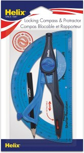 Helix Universal Locking Compass and Protractor Set