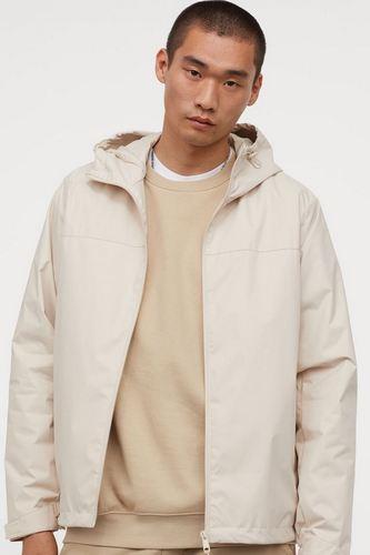 H&M Ivory men's front zippered windbreaker