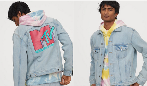 H&M denim jacket with mtv logo