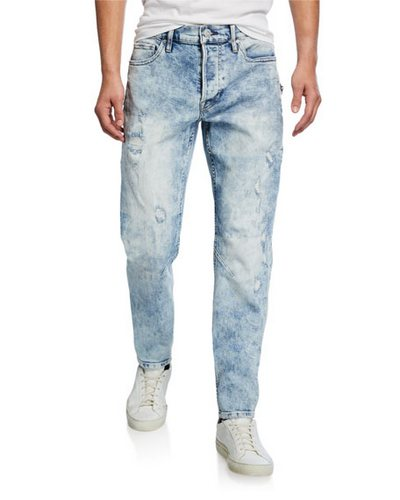 Hudson men's acid wash jeans