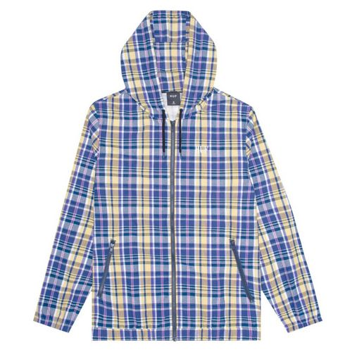 HUF catalina plaid windbreaker with hood