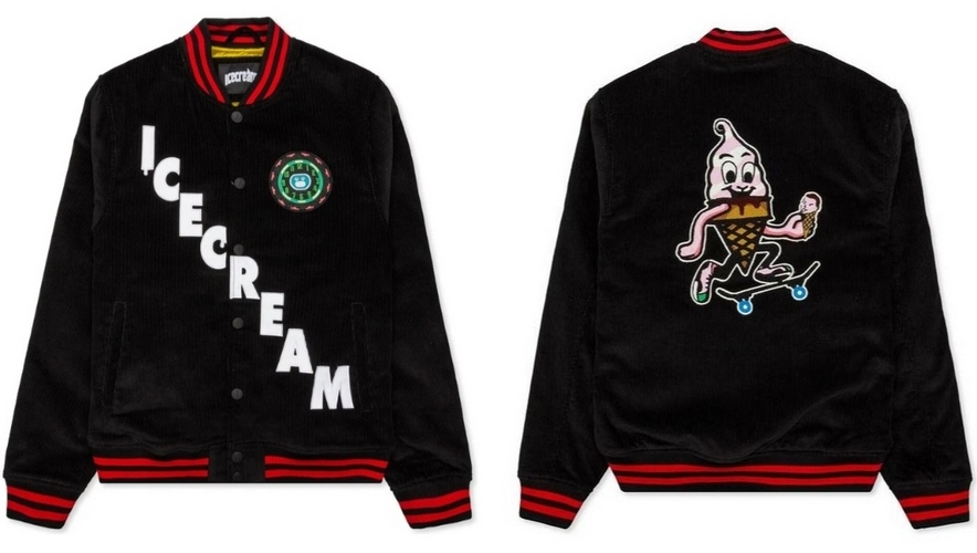 Ice Cream Heritage black men's bomber jacket