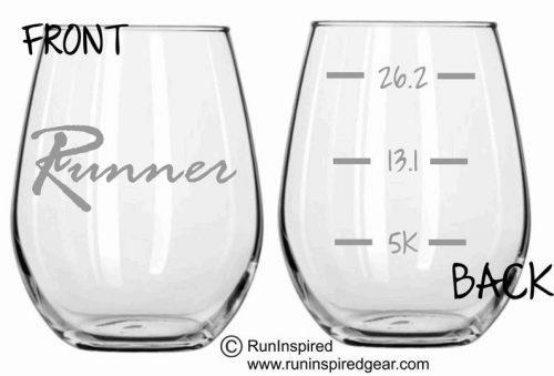 Running Themed Glassware