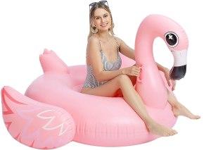 JOYIN giant inflatable flamingo, best pool floats