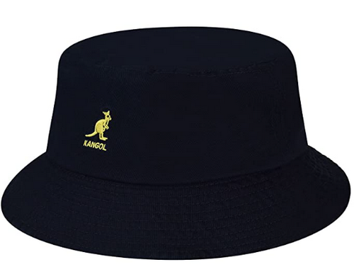 kangol black bucket hat