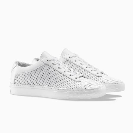 best white sneakers for men - Koio Capri Triple White Perforated