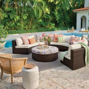 Frontgate large pasadena sofa set, outdoor patio sets