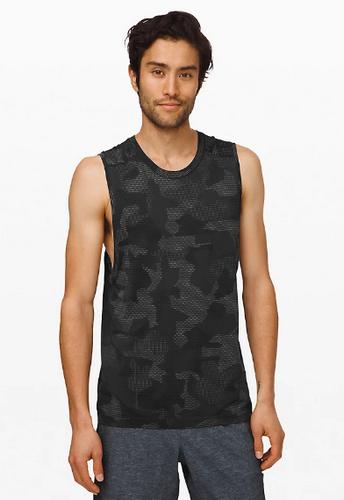 best mens tank top - Lululemon Men's Metal Vent Camo Print Muscle Tank Top