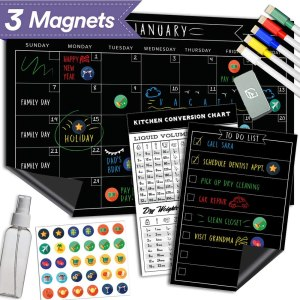 Lushleaf Designs Magnetic Chalkboard Calendar and Chore List