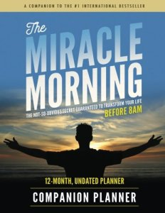 miracle morning companion planner, best productivity planner