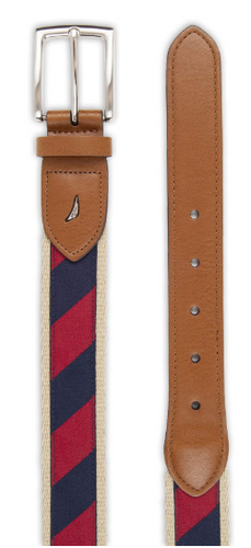 Nautica stripe belt