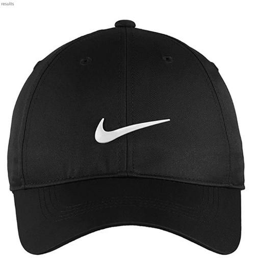 best hats of 2020 - Nike black dri-fit low profile swoosh baseball cap
