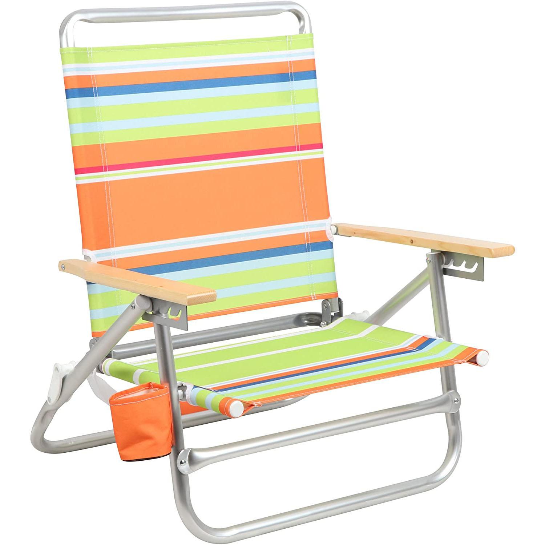 PORTAL Aluminum Lightweight 4-Way Hi Back Folding Beach Chair