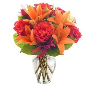 orange rose arrangement, flower delivery services