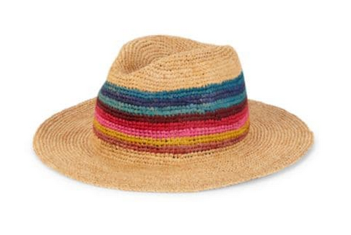 best hats for men - Paul Smith striped hatband straw hat