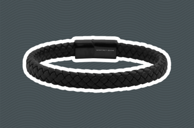 braided leather bracelet men