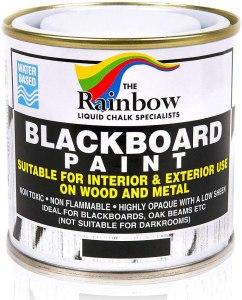 Rainbow Chalkboard Blackboard Paint