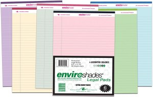 Roaring Spring Enviroshades Recycled Legal Pads