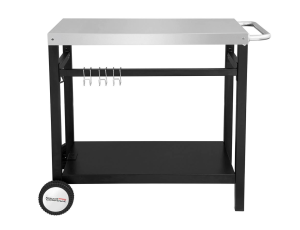 royal gourmet double shelf movable dining cart work table