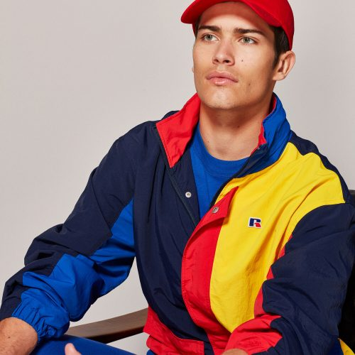Russell Athletic color block wind jacket