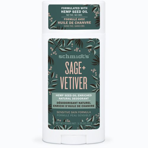 Schmidt's Sage + Vetiver Hemp Seed Oil Natural Deodorant