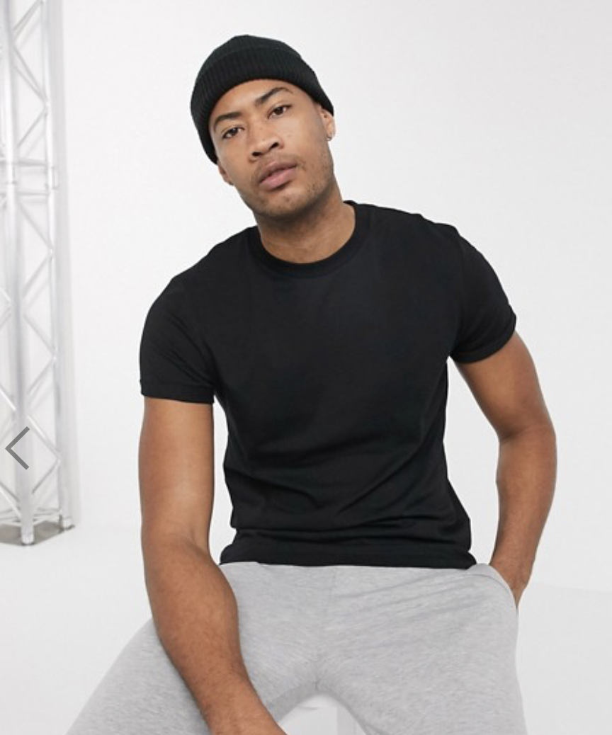 ASOS Design Tall T-Shirt With Roll Sleeve
