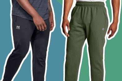 Two men's sweatpants