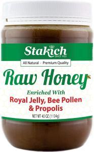 Stakich Raw Honey, best bee pollen supplements