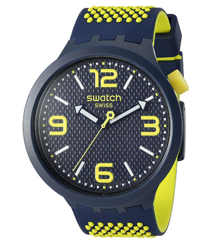 Swatch yellow and black watch