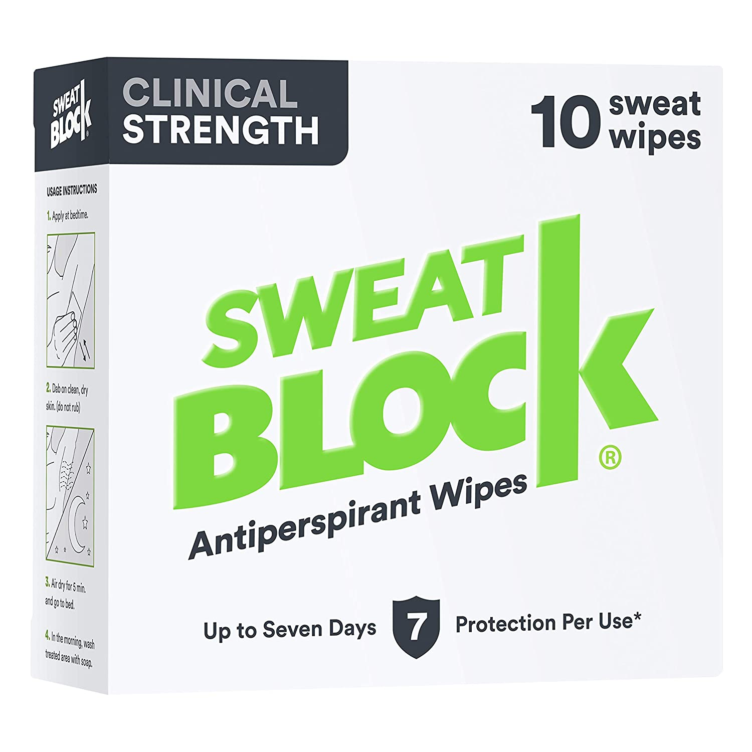 SweatBlock clinical strength antiperspirant wipes for hyperhidrosis