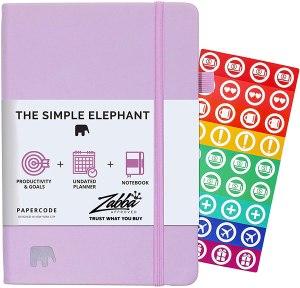The Simple Elephant Planner, productivity planner, habit journal